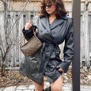 Vintage Faux Leather Jacket